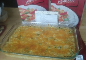 Broc rice n cheese casserole 2